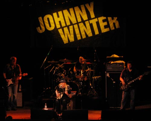 Johnny Winter in Santa Cruz